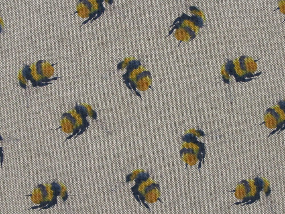 Fabric Bees Linen Look 80/% Cotton 20/% Polyester