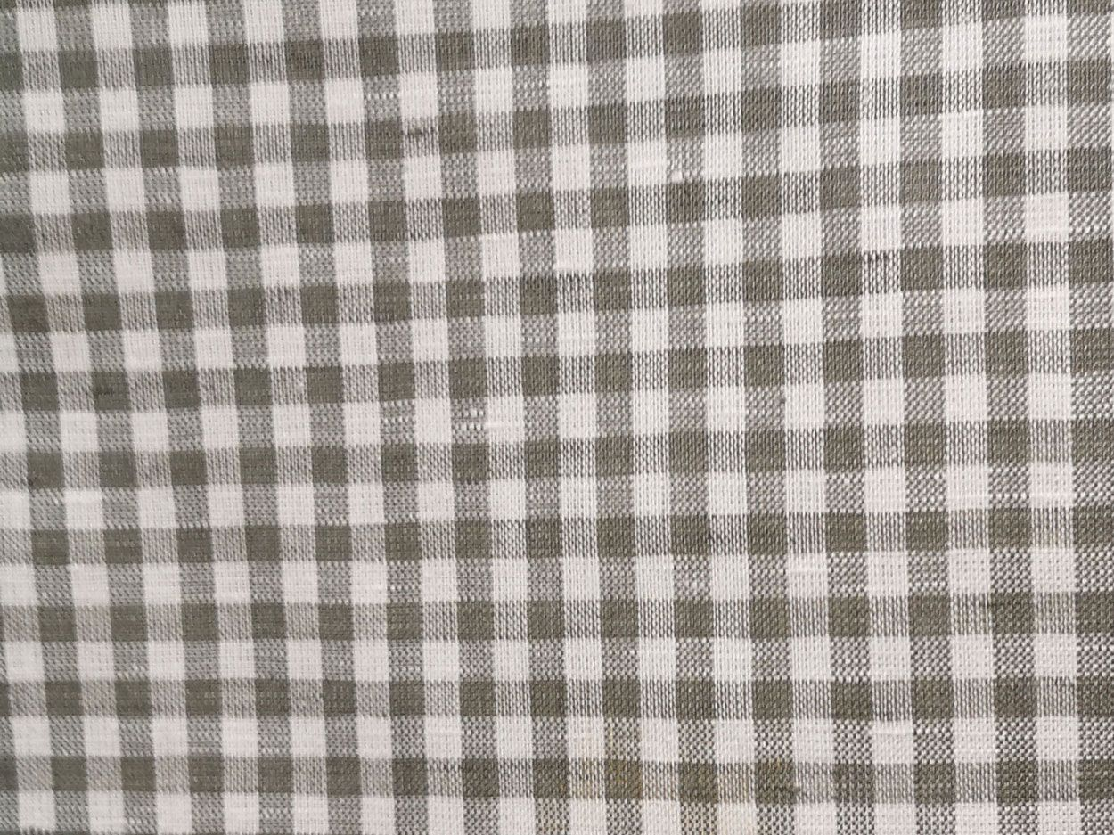 Buy Ona Linen Blend Sage Gingham At Dalston Mill Fabrics