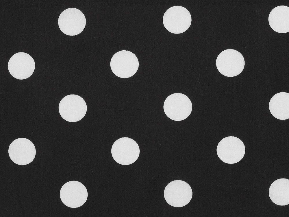 Polycotton Fabric Black /& White Spot