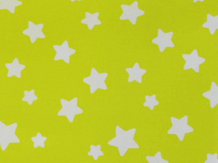 Crease Resistant Polycotton Twill, Stars, Yellow