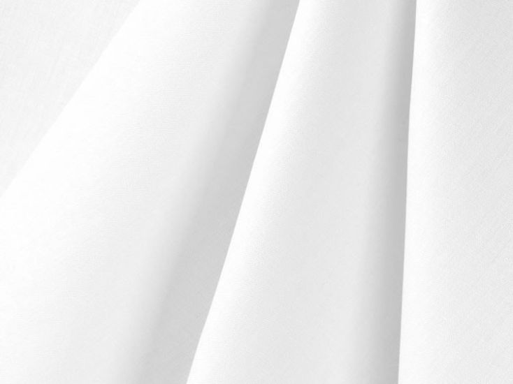 200 Thread Count Cotton Percale, White