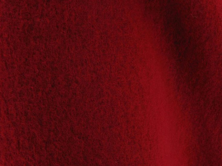 Boiled Wool Blend, Red