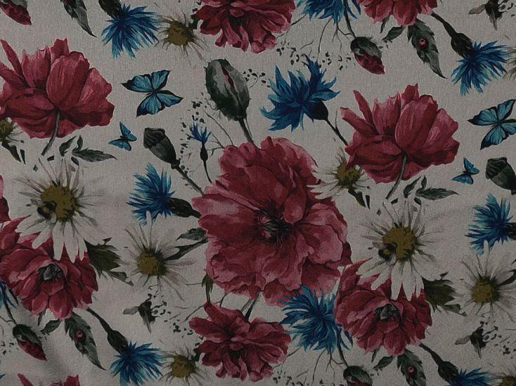Printed Satin, Butterfly Garden