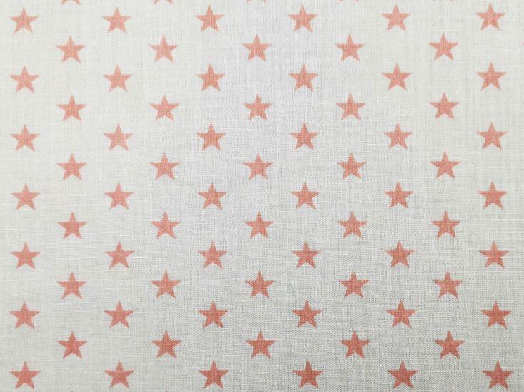 1cm Stars Polycotton Print, Pink