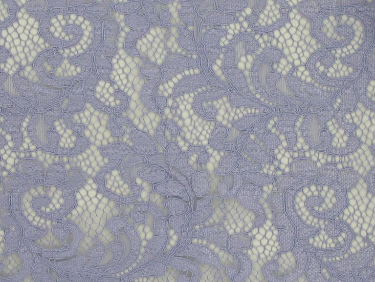 Heavy Corded Floral Lace with Double Scallop Edge, Lilac