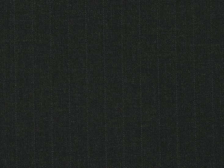 Alfred Brown Merino Two Fold Wool with Stripe, Charcoal