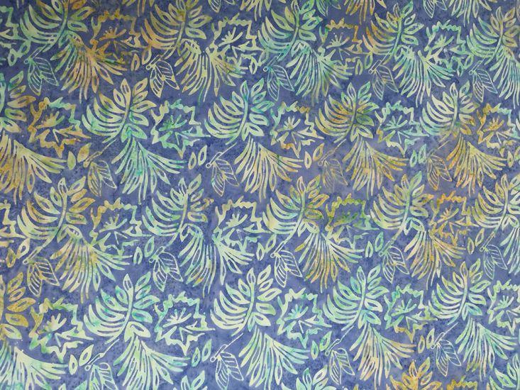 Bali Batik Cotton, Floral Butterfly, Aegean