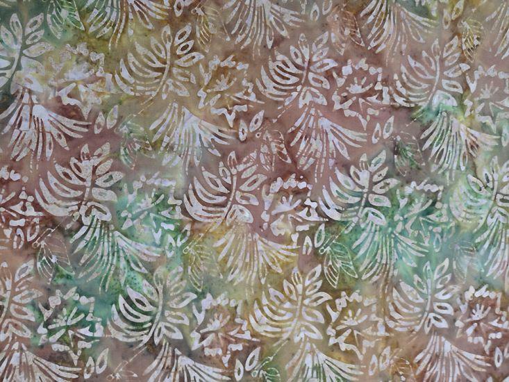 Bali Batik Cotton, Floral Butterfly, Autumn Leaves