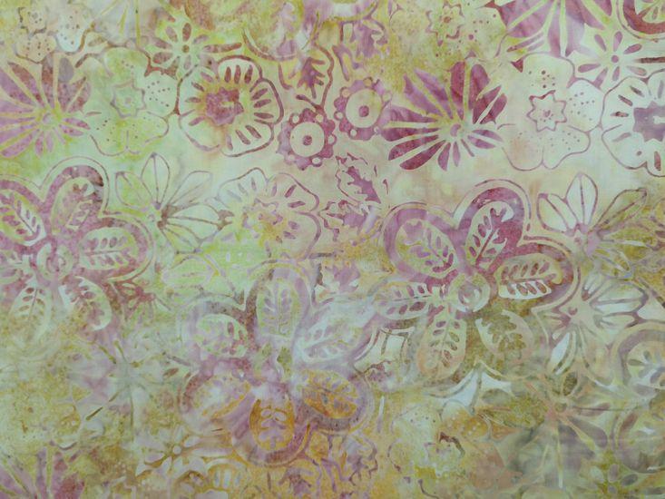 Bali Batik Cotton, Meadow Flower, Dijon