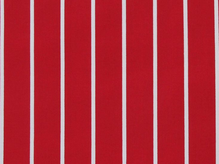Crease Resistant Polycotton Twill, Butchers Stripe, Red