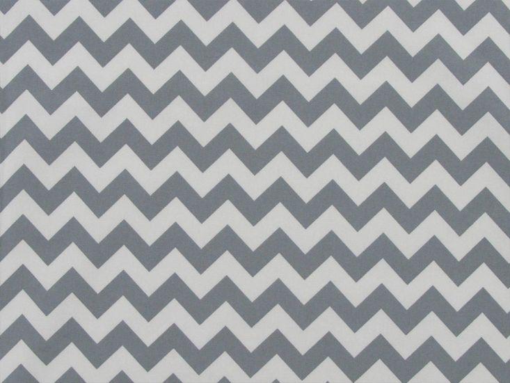 Chevron Cotton Print, Grey