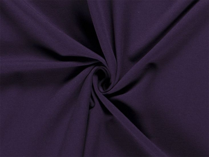 Soft Brushed Cotton French Terry, Dark Purple