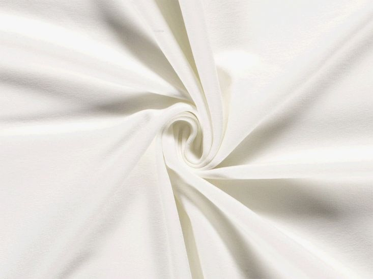 Soft Brushed Cotton French Terry, Ivory