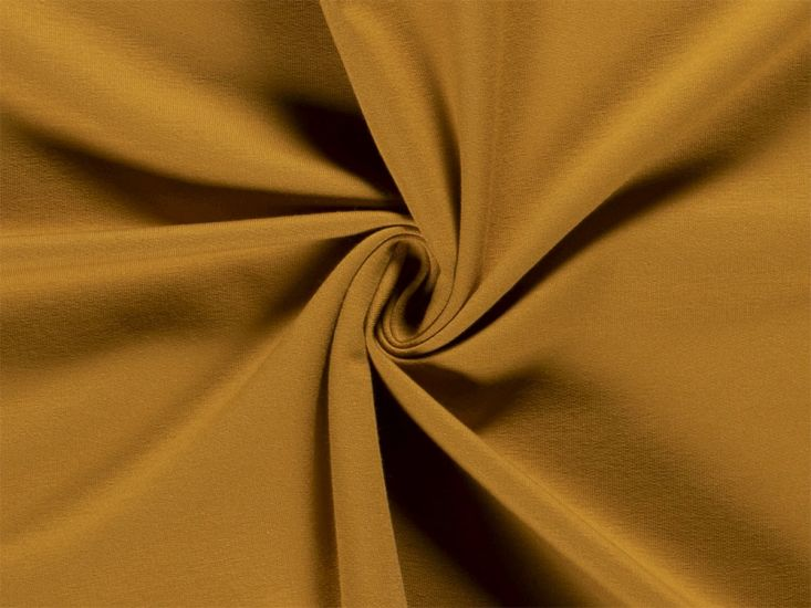 Soft Brushed Cotton French Terry, Ochre