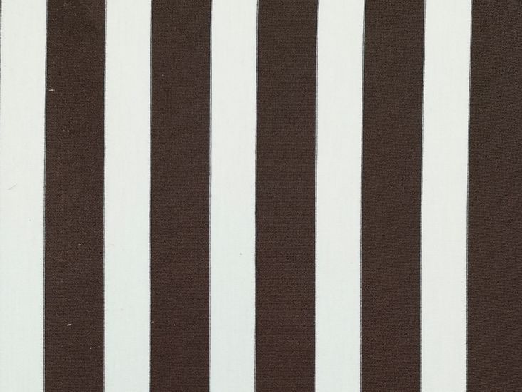 Cotton Jersey with Elastane Stripe, Brown