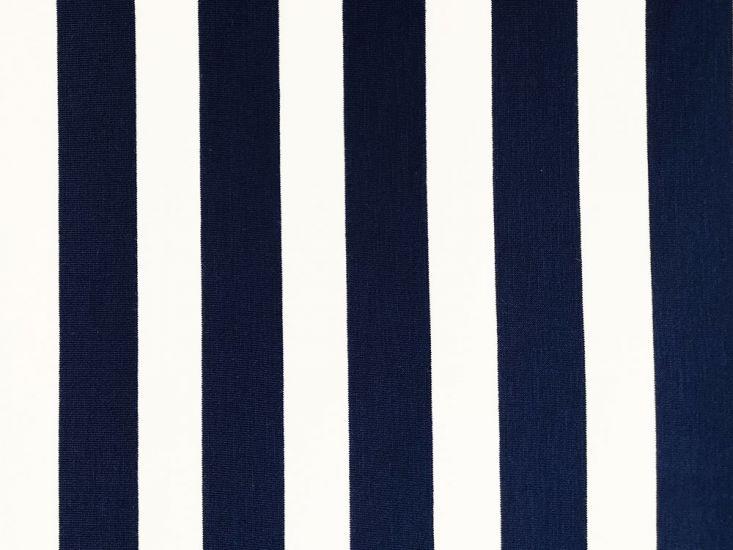 Cotton Jersey with Elastane Stripe, Blue
