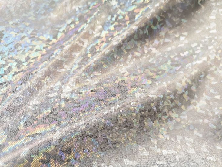 Cracked Ice Hologram Foil - Ice White