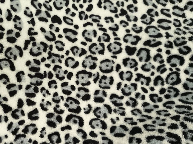 Ultra Soft Cuddle Fleece, Snow Leopard