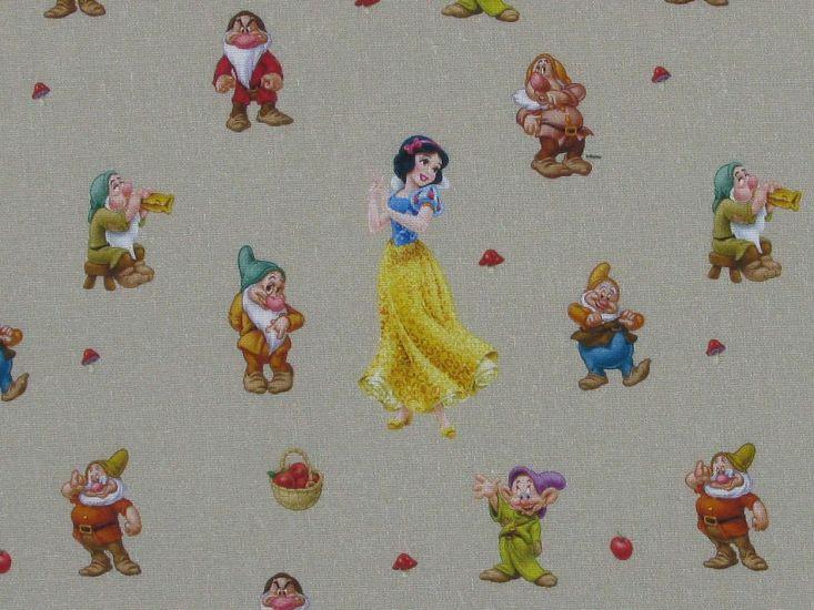 Disney Printed Cotton, Snow White and the Seven Dwarfs