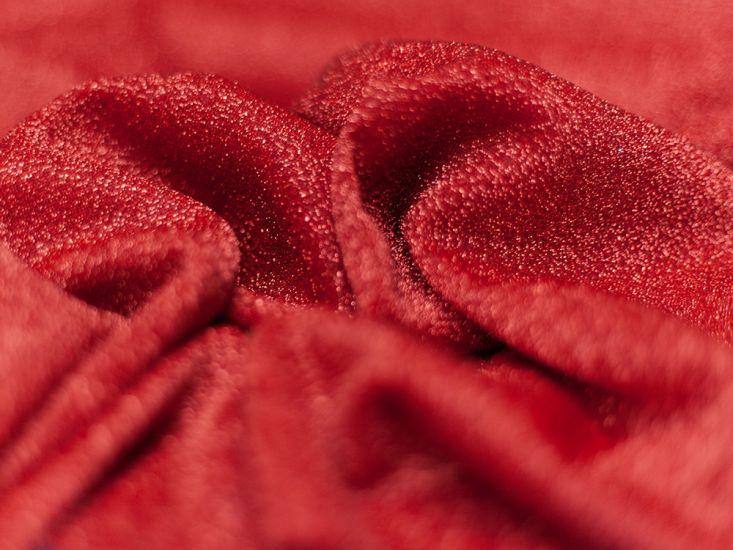 Fancy Firefly Metallic Knit - Red