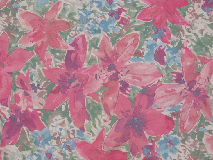 Floral Elastique, Tiger Lily Garden, Pink
