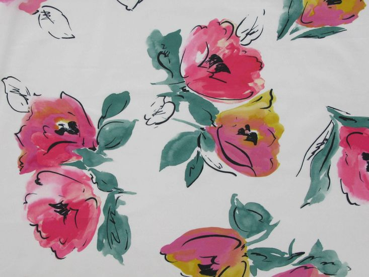 Floral Elastique, Watercolour Tulip