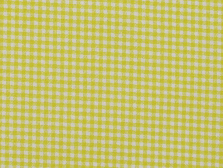 Mini Gingham Cotton Print, Yellow