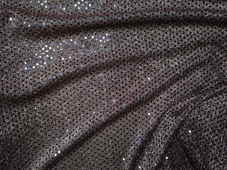 Hologram Sequin on US Knit - Silver Rose