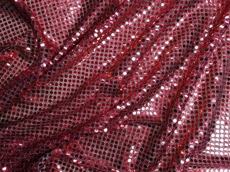 Large Sequin on US Knit - Red