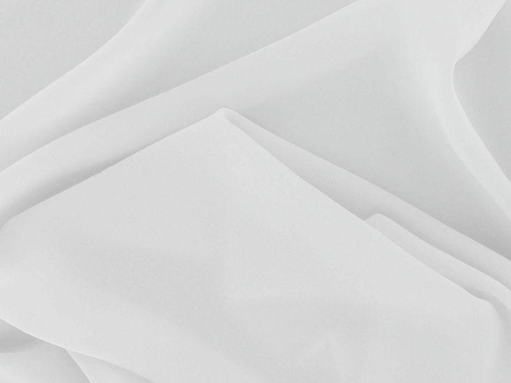 Koshibo Lightweight Polyester Crepe, White