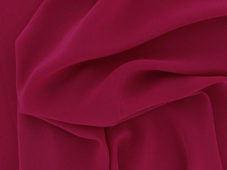 Koshibo Lightweight Polyester Crepe, Cerise