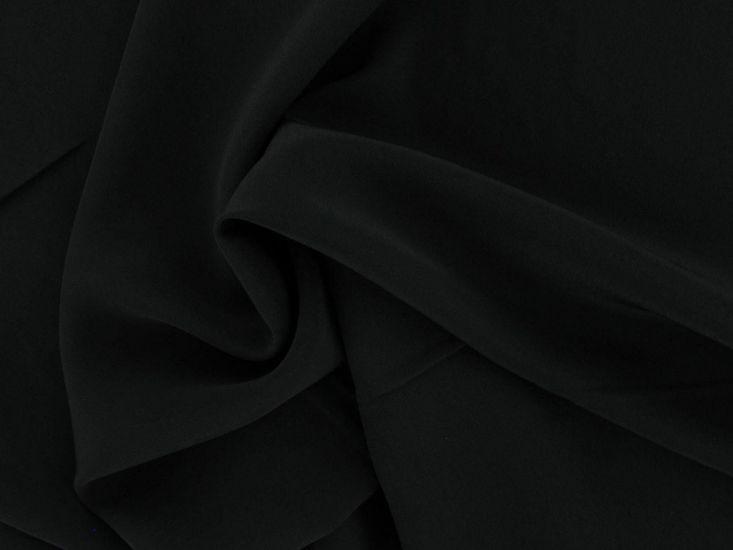 Koshibo Lightweight Polyester Crepe, Black
