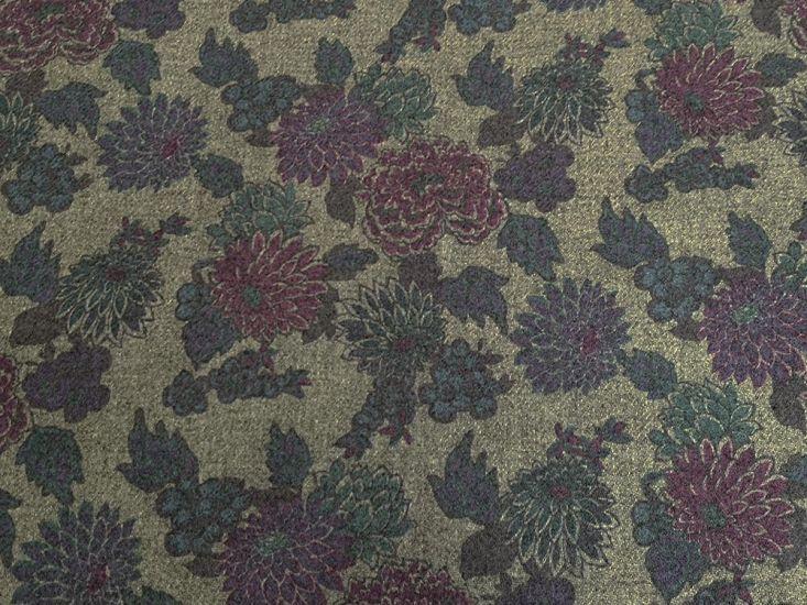 Liberty Art Fabrics Harris Tweed, Meandering Chrysanthemums