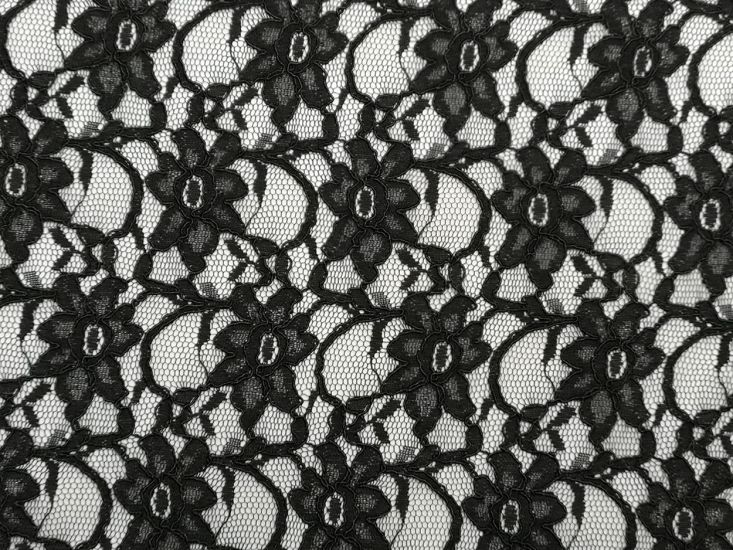 Heavy Corded Lace, Black