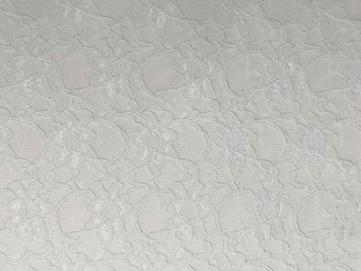 Heavy Corded Lace, White