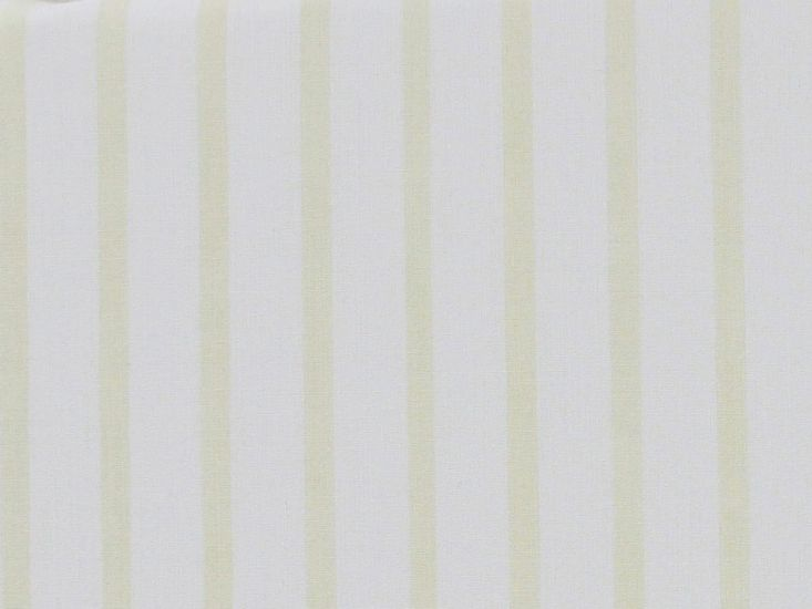 Pastel Shirt Stripe Polycotton, White and Yellow