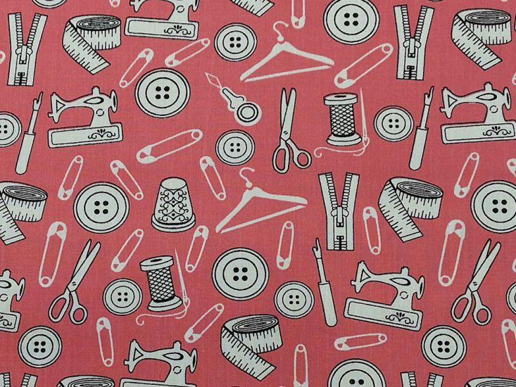 Sewing Studio Polycotton Print, Candy