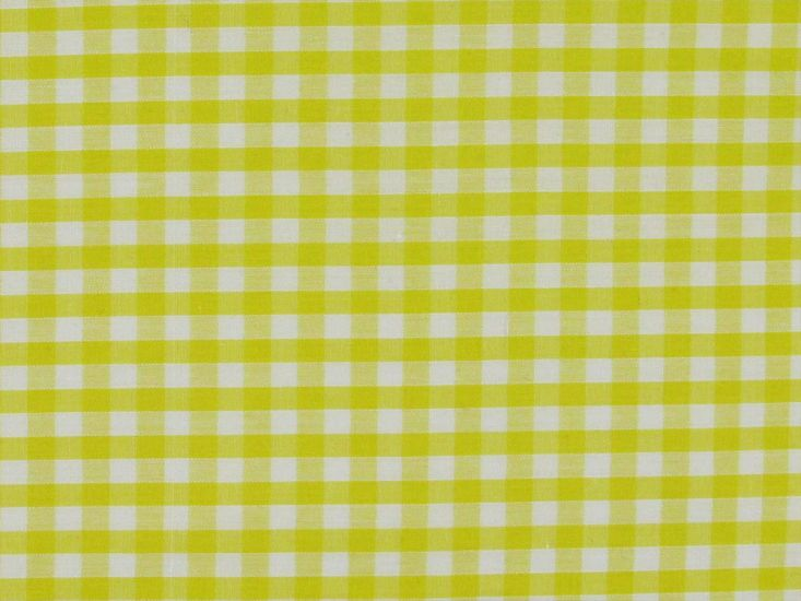 Polycotton Gingham, 1/4 inch, Yellow