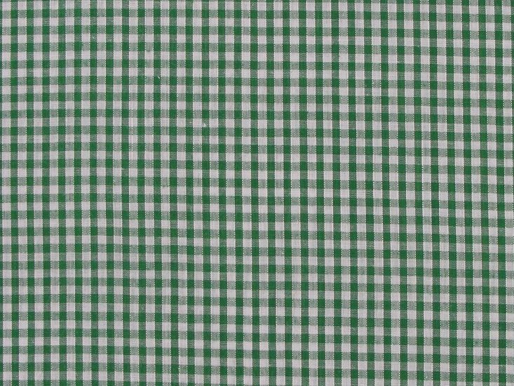 Polycotton Gingham, 1/8 inch - Green