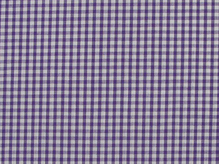 Polycotton Gingham, 1/8 inch - Purple