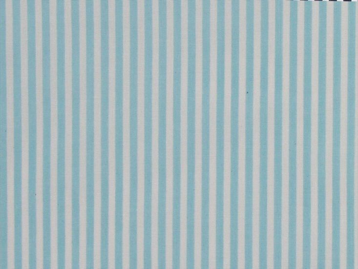 Candy Stripe Polycotton Print, Baby Blue