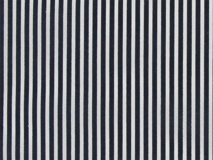 Candy Stripe Polycotton Print, Black