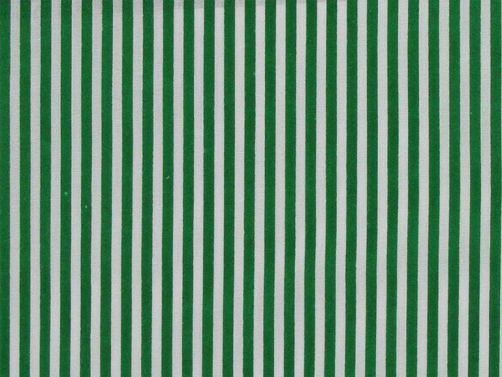Candy Stripe Polycotton Print, Green