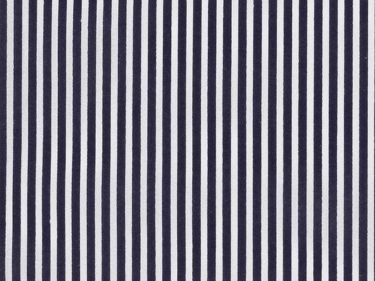 Candy Stripe Polycotton Print, Navy Blue