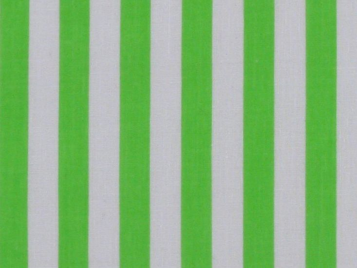 Medium 1cm Stripe Polycotton Print, Green