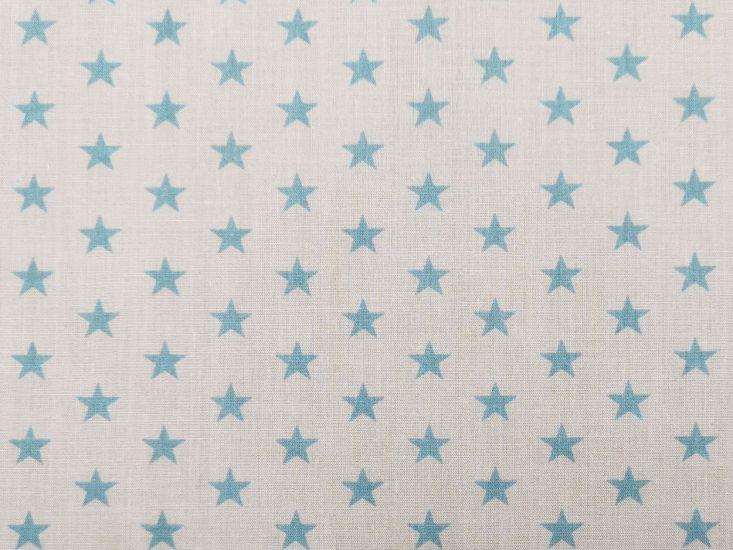 1cm Stars Polycotton Print, Sky