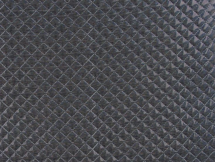 Padded Quilted Hologram PVC, Black
