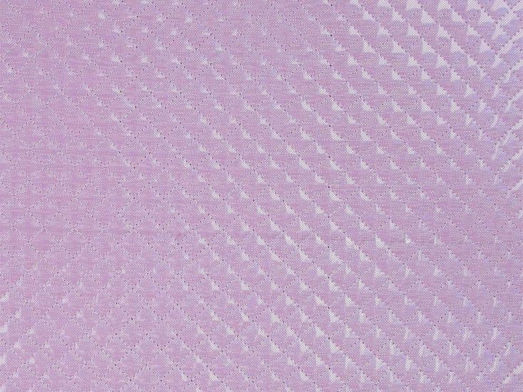 Padded Quilted Hologram PVC, Pink