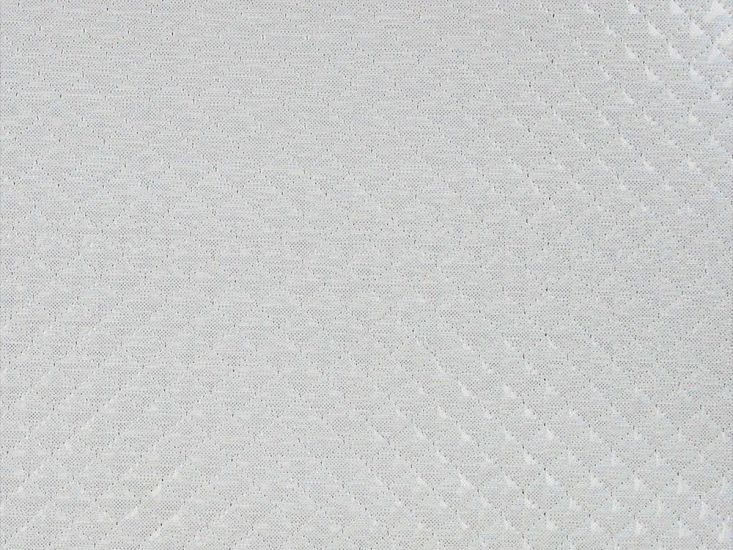 Padded Quilted Hologram PVC, Pearl
