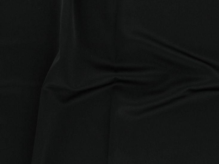 Stretch Satin Crepe, Black